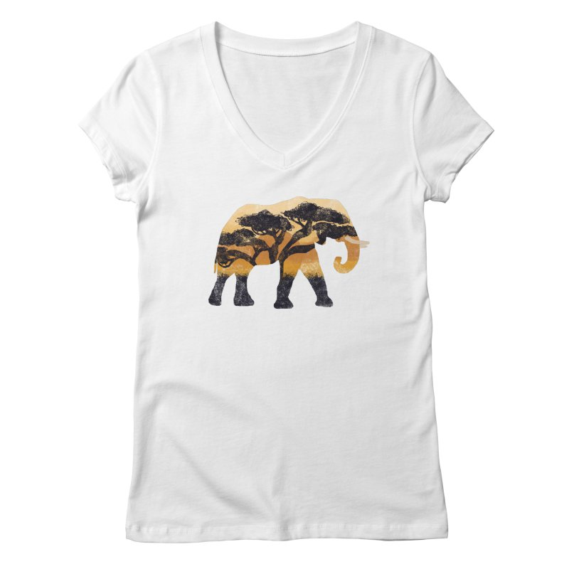 Safari Women's Regular V-Neck by AtomicChild Design