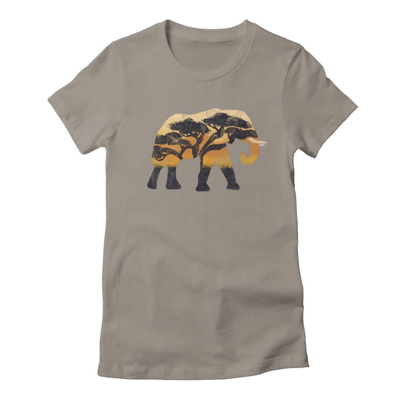 Safari Women's Fitted T-Shirt by AtomicChild Design