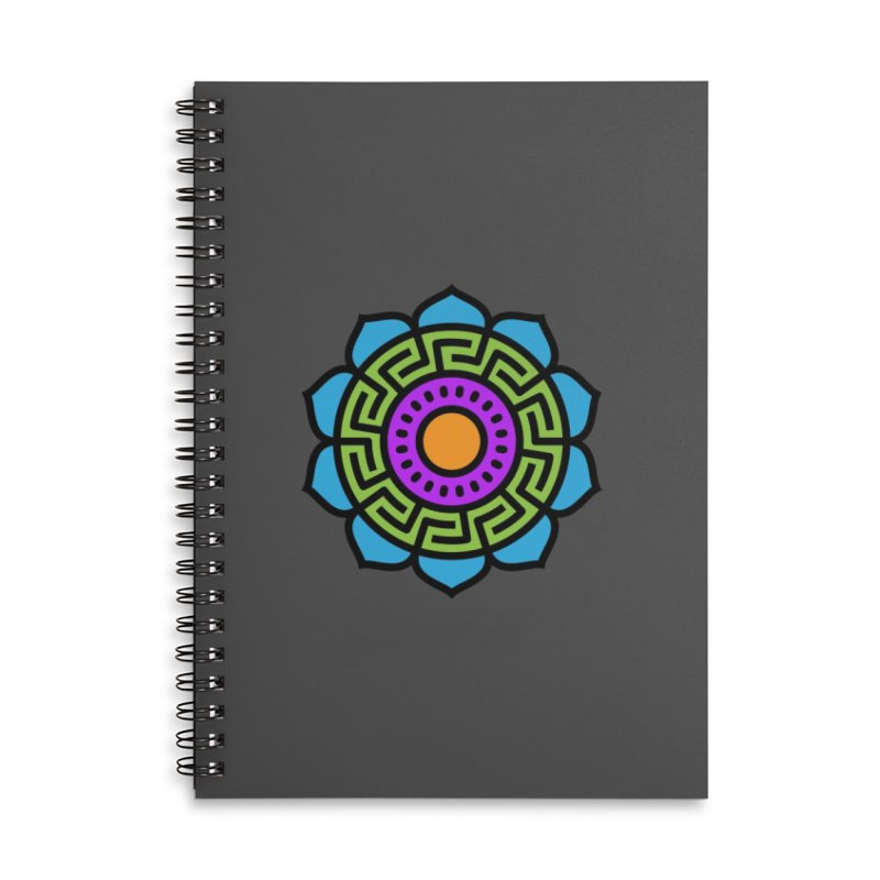 Mandala Number Two Accessories Notebook by Atomic Lotus Apparel