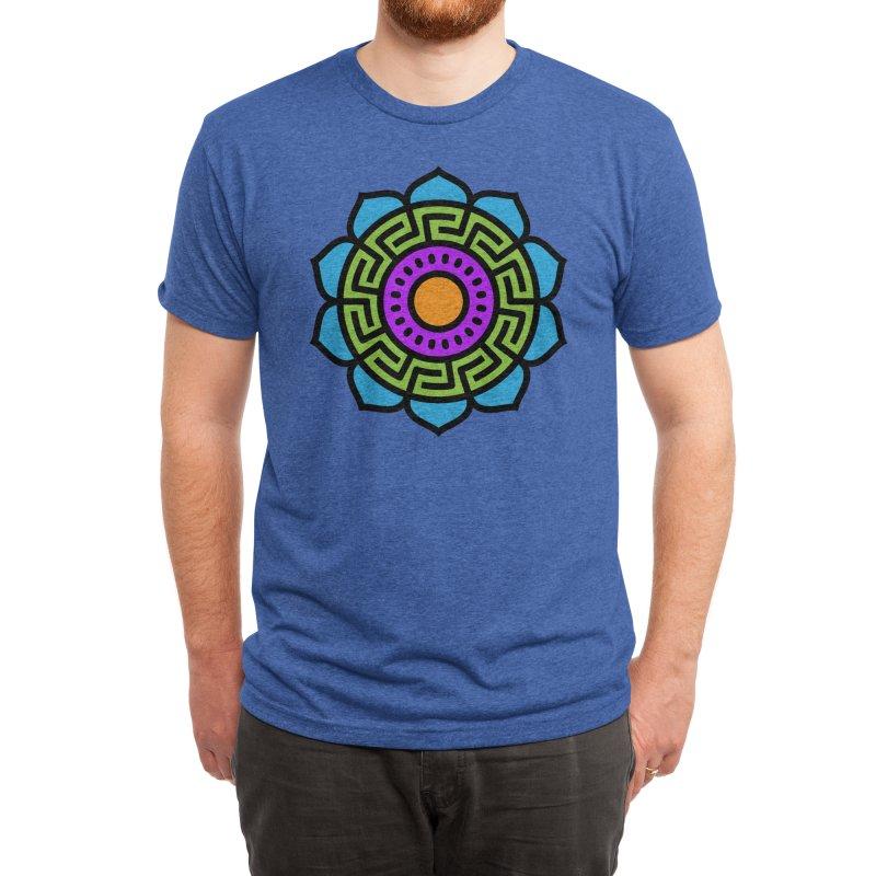 Mandala Number Two Men's T-Shirt by Atomic Lotus Apparel