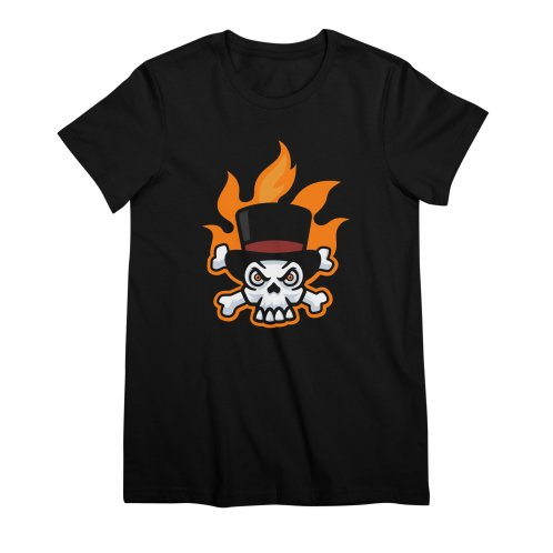 image for Flaming Skull and Bones in Tophat