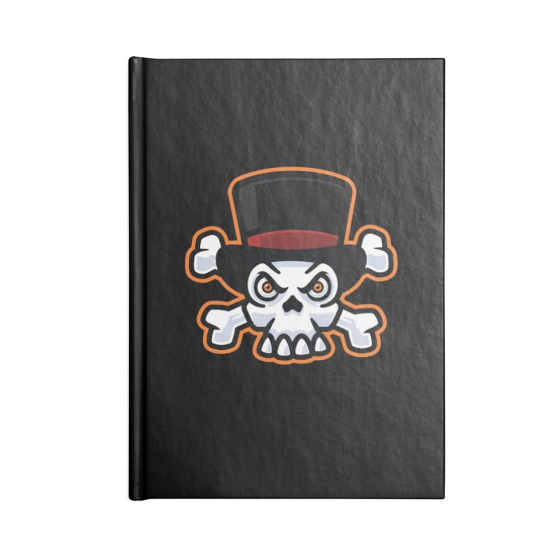 Skull in Tophat Accessories Notebook by Atomic Lotus Apparel