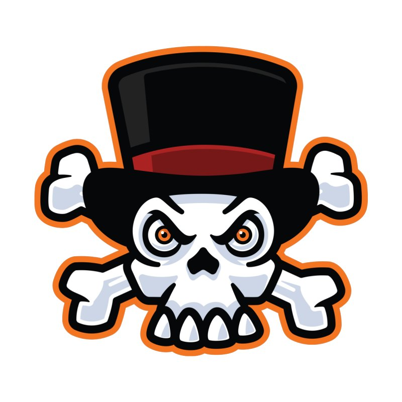 Skull in Tophat Accessories Sticker by Atomic Lotus Apparel