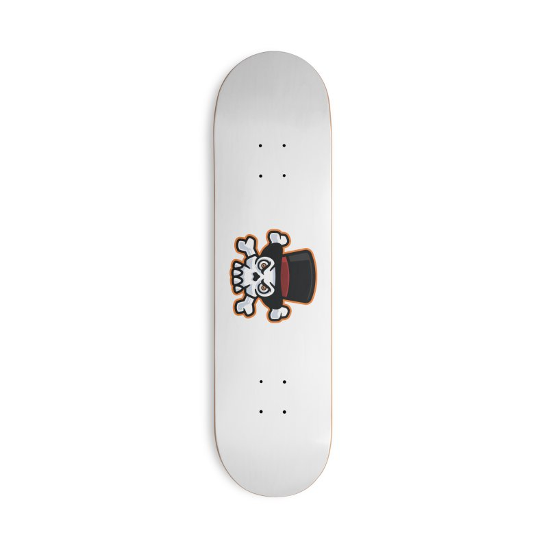Skull in Tophat Accessories Skateboard by Atomic Lotus Apparel