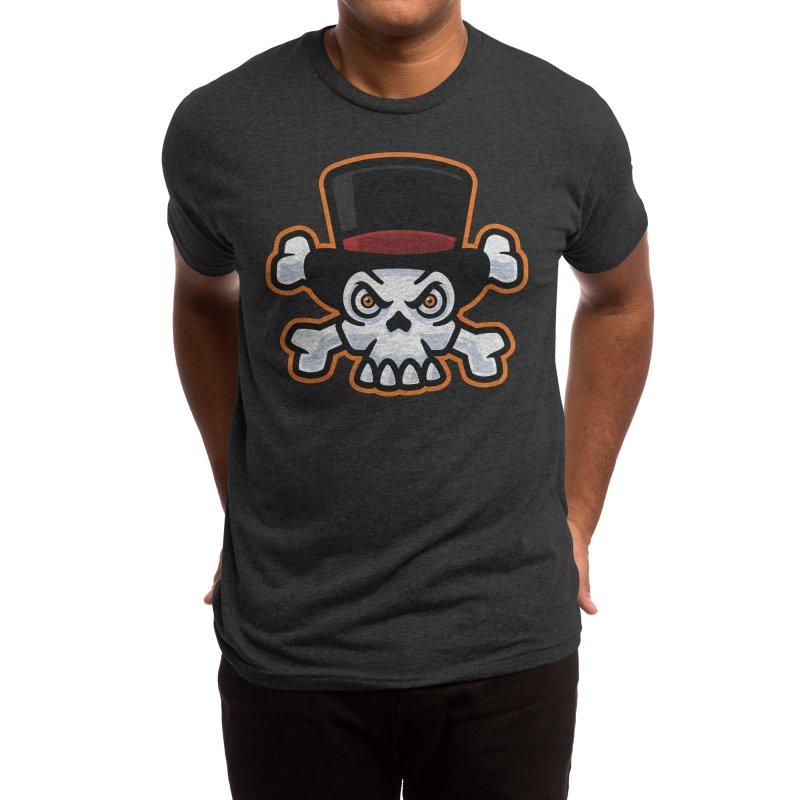 Skull in Tophat Men's T-Shirt by Atomic Lotus Apparel