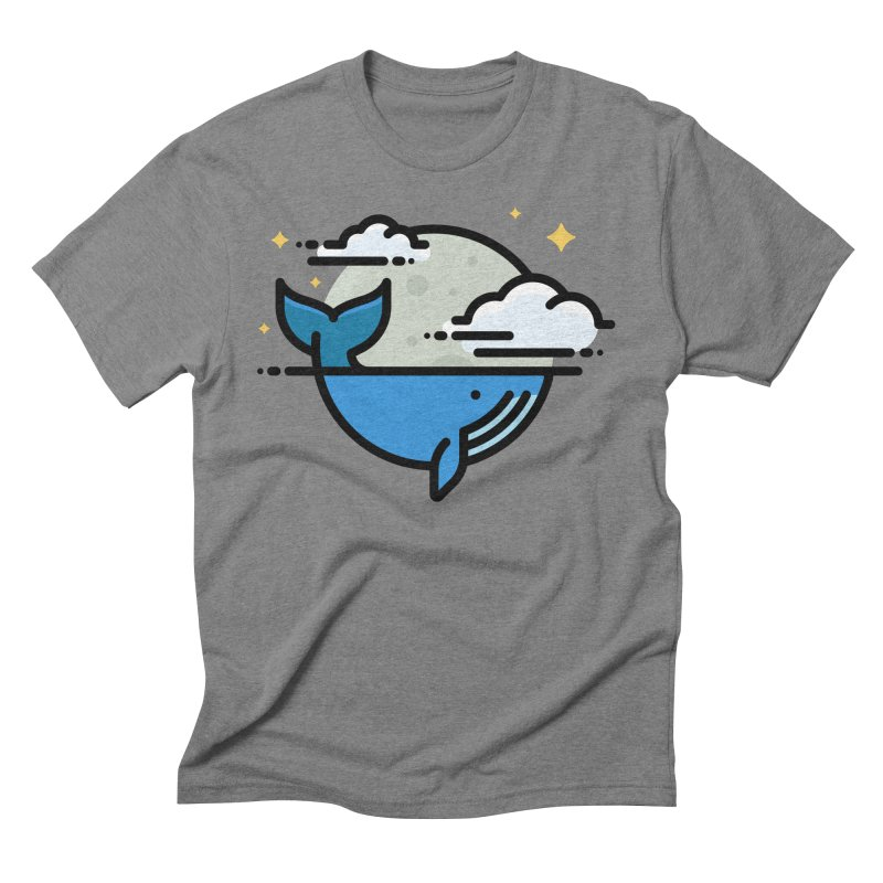One Tail of a Whale Men's T-Shirt by Atomic Lotus Apparel