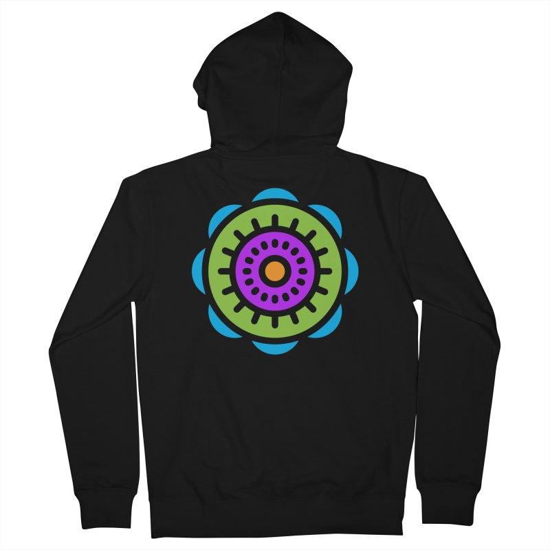 Kaleidoscope Men's Zip-Up Hoody by Atomic Lotus Apparel