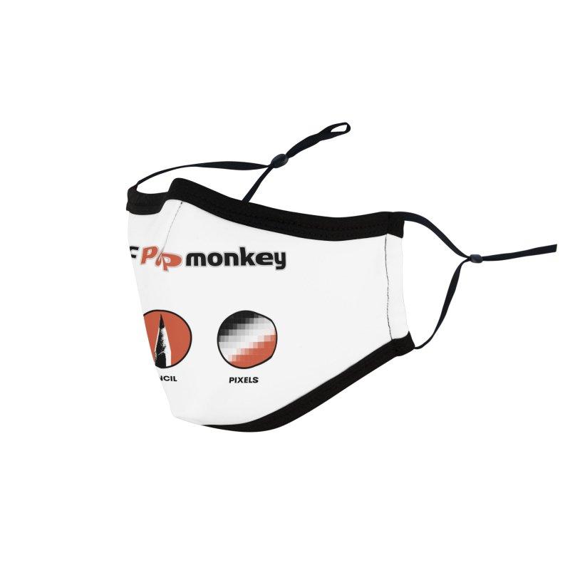 Atomic Pop Monkey - Rock / Pencil / Pixels Accessories Face Mask by atomicpopmonkey's Artist Shop