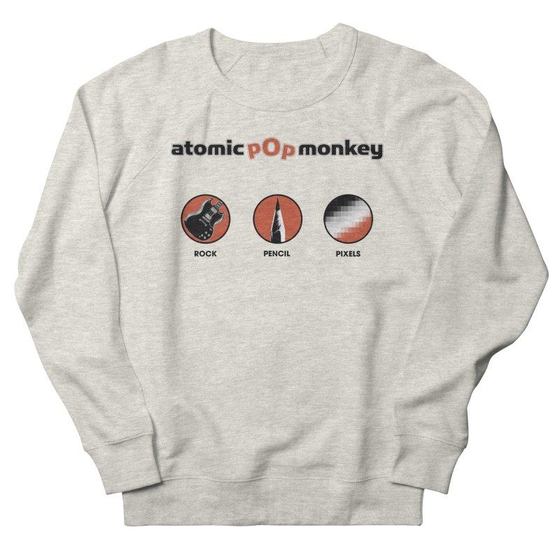 Atomic Pop Monkey - Rock / Pencil / Pixels Men's Sweatshirt by atomicpopmonkey's Artist Shop