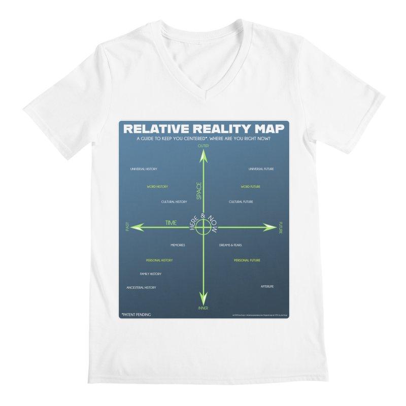 Relative Reality Map Men's V-Neck by atomicpopmonkey's Artist Shop