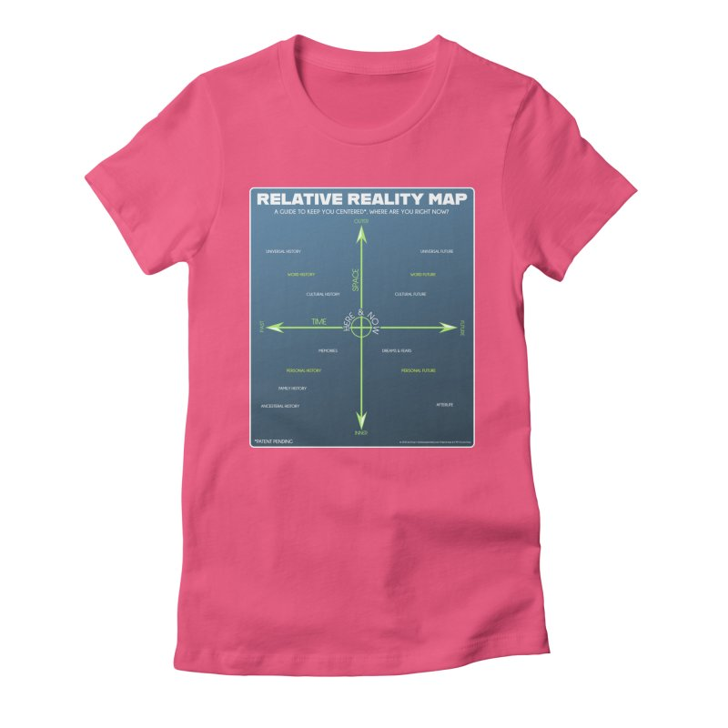 Relative Reality Map Women's T-Shirt by atomicpopmonkey's Artist Shop
