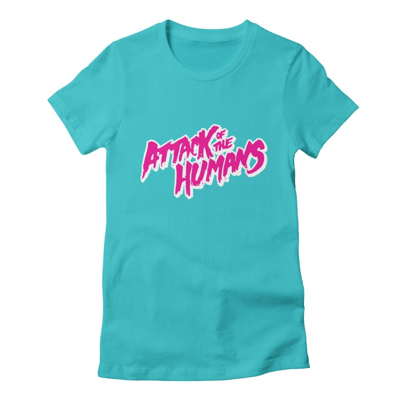 AOTH magenta Women's Fitted T-Shirt by Attack of the Humans