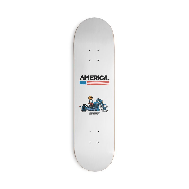 American Motorcycle Accessories Skateboard by Attention®