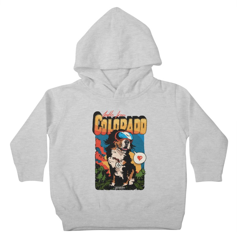 Colorado doggo Kids Toddler Pullover Hoody by Attention®