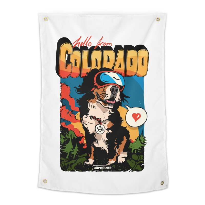 Colorado doggo Home Tapestry by Attention®