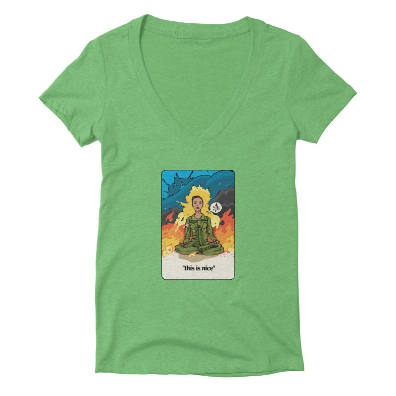 This is Nice Women's V-Neck by Attention®