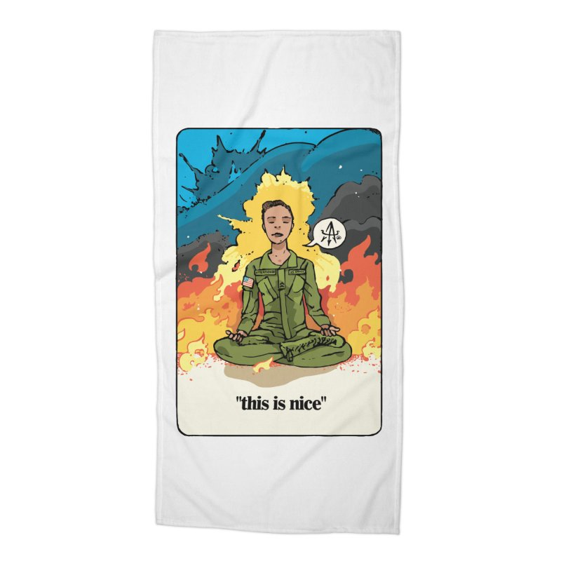 This is Nice Accessories Beach Towel by Attention®