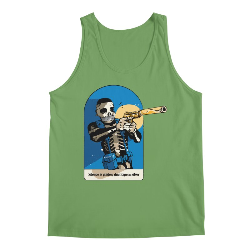 Silence is Golden Men's Tank by Attention®