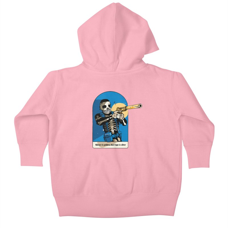 Silence is Golden Kids Baby Zip-Up Hoody by Attention®