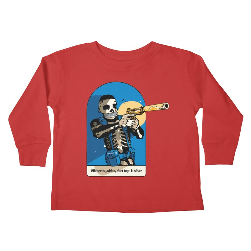 Silence is Golden Kids Toddler Longsleeve T-Shirt by Attention®