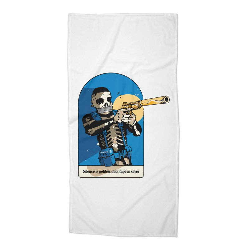 Silence is Golden Accessories Beach Towel by Attention®