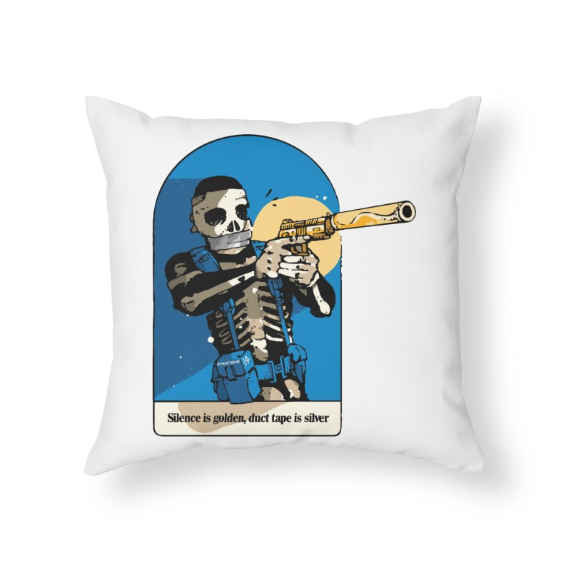 Silence is Golden Home Throw Pillow by Attention®