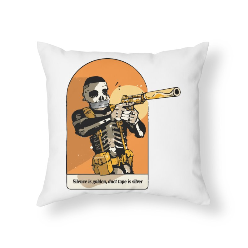 Silence is Golden 2 Home Throw Pillow by Attention®