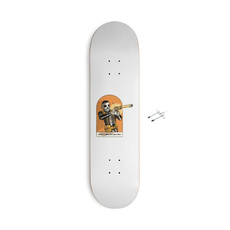Silence is Golden 2 Accessories Skateboard by Attention®