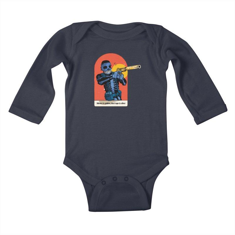 Silence is Golden 3 Kids Baby Longsleeve Bodysuit by Attention®