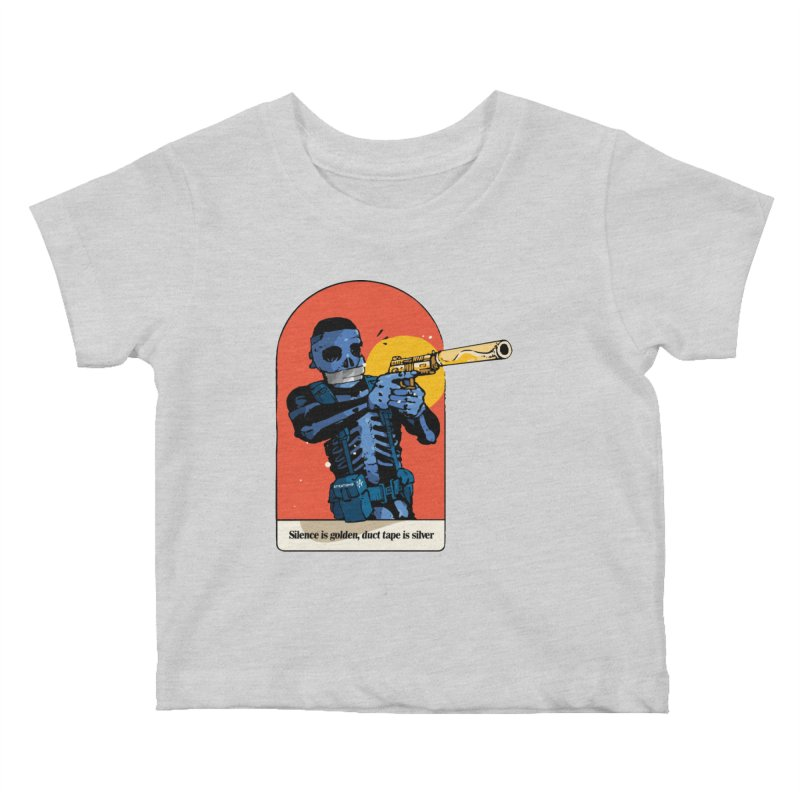 Silence is Golden 3 Kids Baby T-Shirt by Attention®
