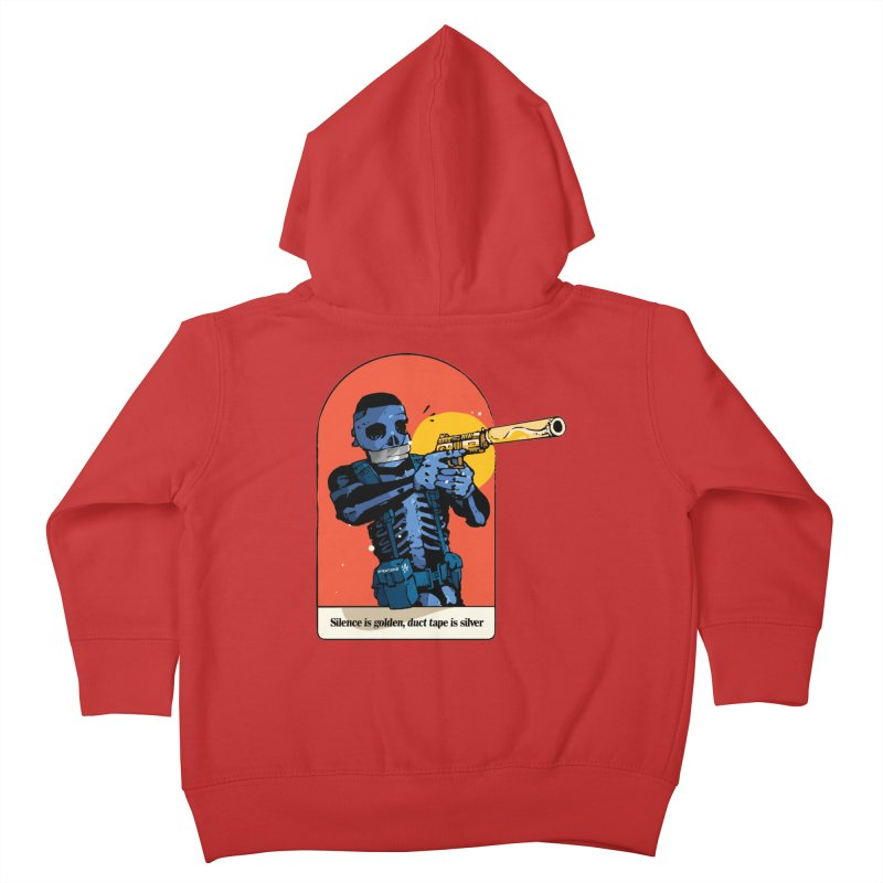 Silence is Golden 3 Kids Toddler Zip-Up Hoody by Attention®