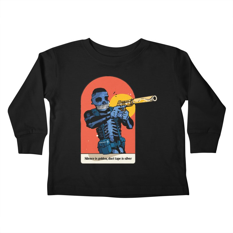 Silence is Golden 3 Kids Toddler Longsleeve T-Shirt by Attention®