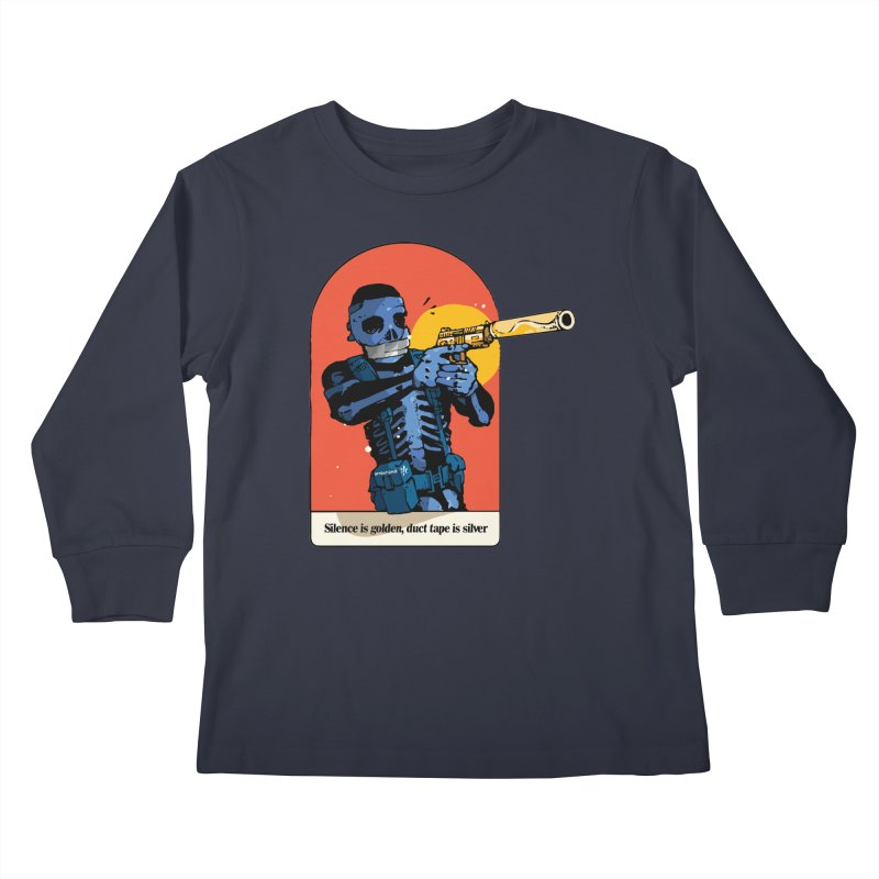 Silence is Golden 3 Kids Longsleeve T-Shirt by Attention®