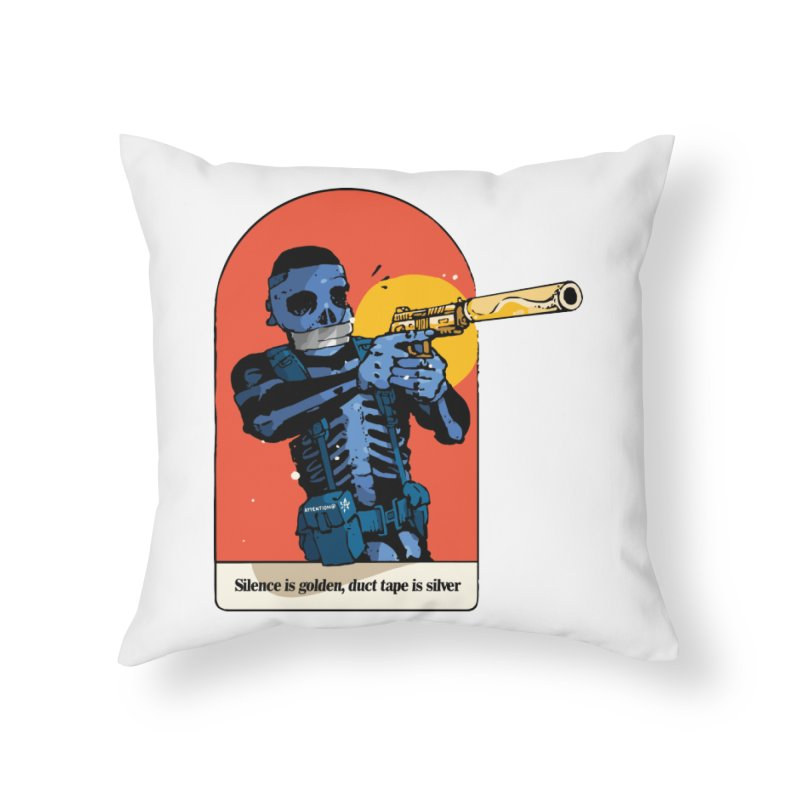 Silence is Golden 3 Home Throw Pillow by Attention®
