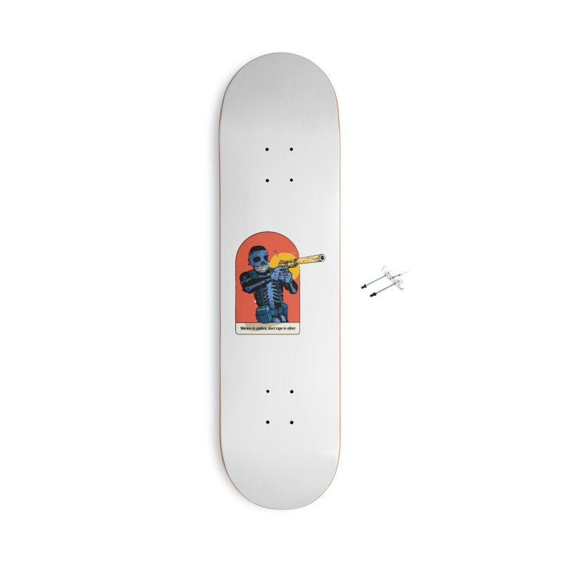 Silence is Golden 3 Accessories Skateboard by Attention®