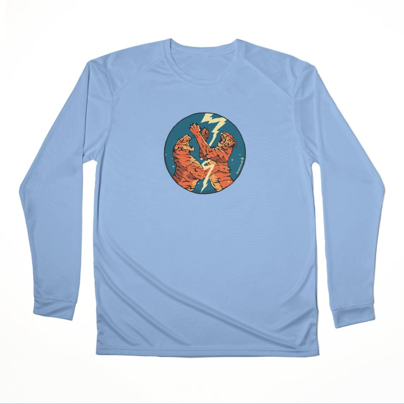 Tigers Fighting Men's Longsleeve T-Shirt by Attention®