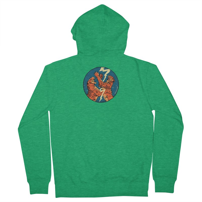 Tigers Fighting Men's Zip-Up Hoody by Attention®