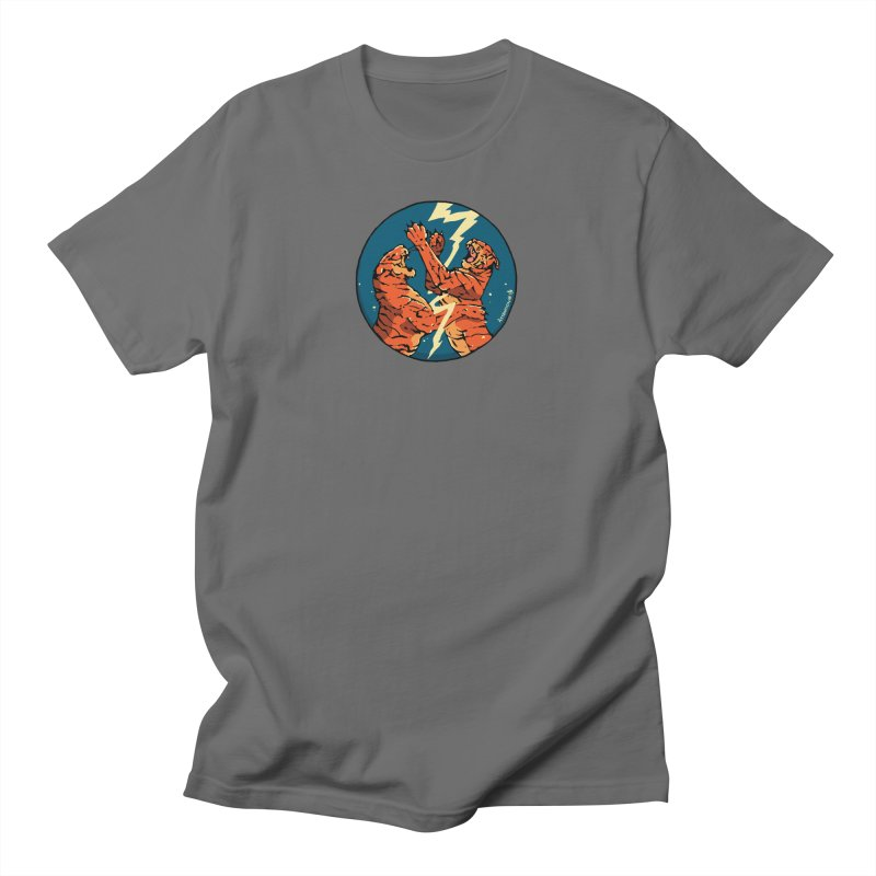Tigers Fighting Men's T-Shirt by Attention®