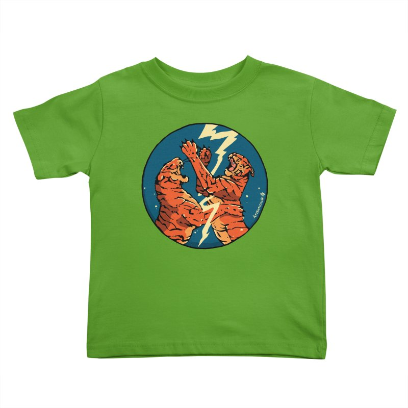 Tigers Fighting Kids Toddler T-Shirt by Attention®