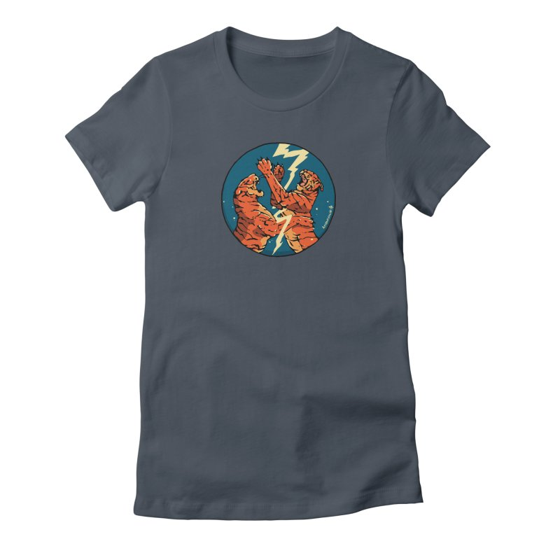 Tigers Fighting Women's T-Shirt by Attention®