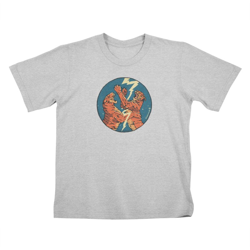 Tigers Fighting Kids T-Shirt by Attention®