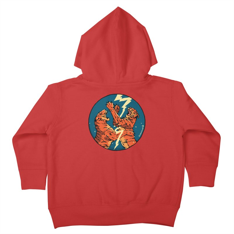 Tigers Fighting Kids Toddler Zip-Up Hoody by Attention®