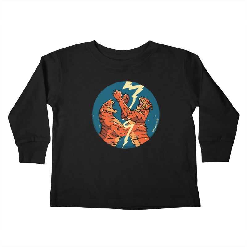 Tigers Fighting Kids Toddler Longsleeve T-Shirt by Attention®