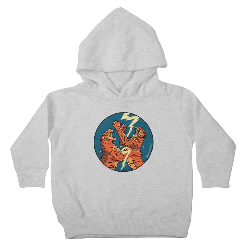 Tigers Fighting Kids Toddler Pullover Hoody by Attention®