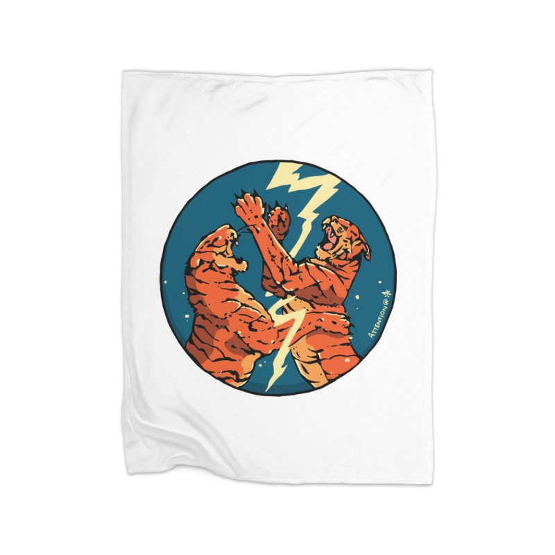 Tigers Fighting Home Blanket by Attention®