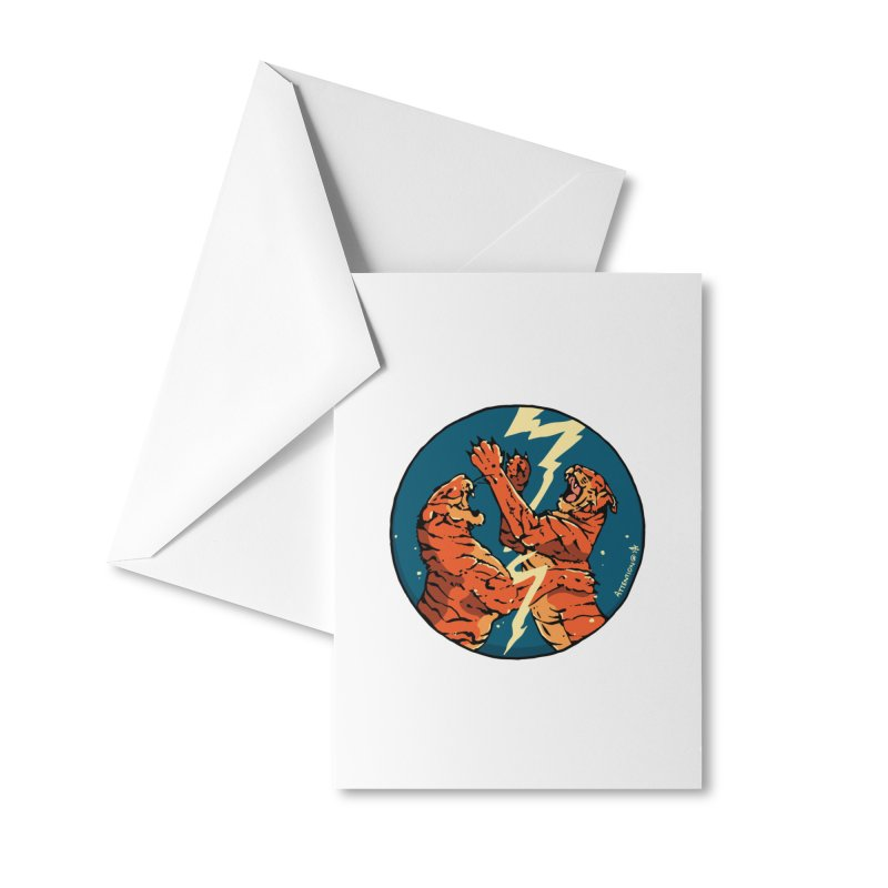 Tigers Fighting Accessories Greeting Card by Attention®