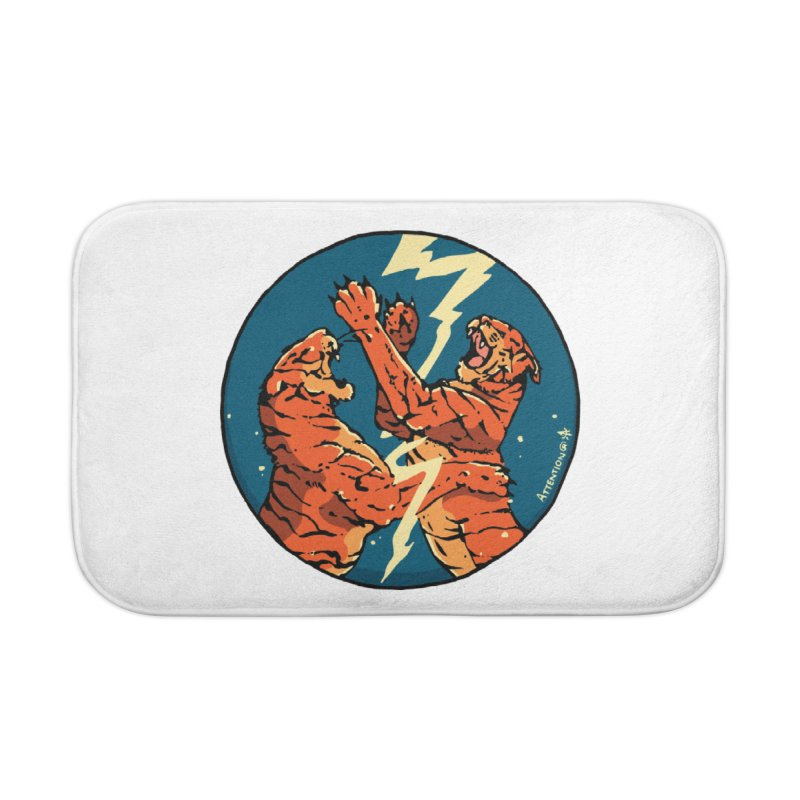 Tigers Fighting Home Bath Mat by Attention®