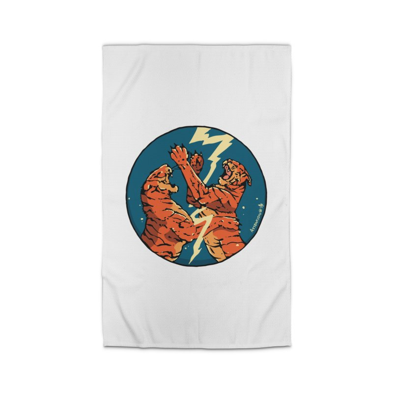 Tigers Fighting Home Rug by Attention®
