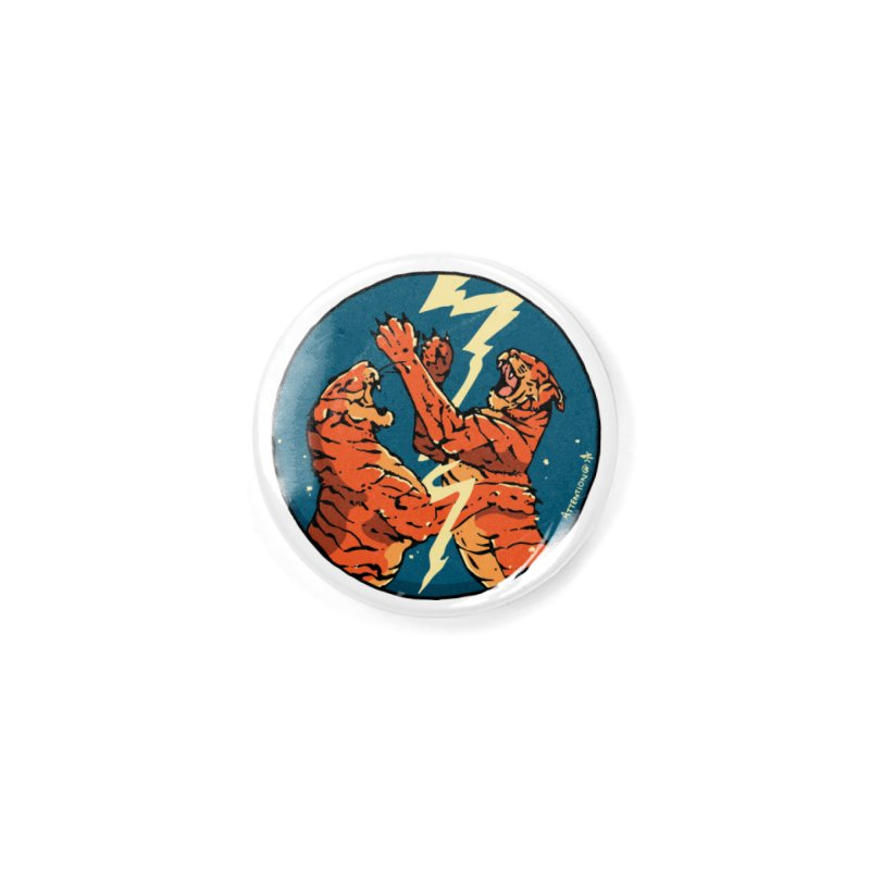 Tigers Fighting Accessories Button by Attention®