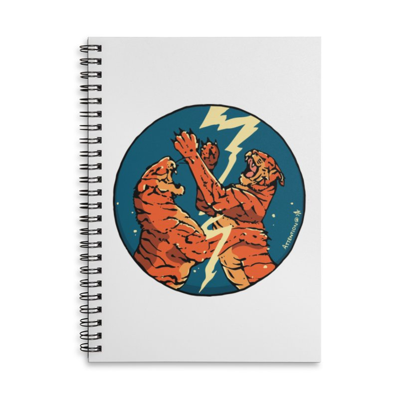 Tigers Fighting Accessories Notebook by Attention®